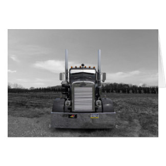 Peterbilt Needle Nose b w Note Card