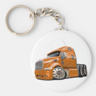 Peterbilt Orange Truck Keychain