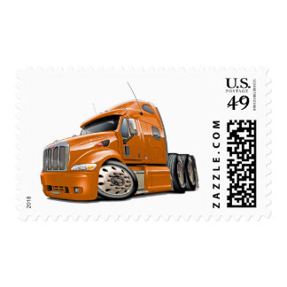 Peterbilt Orange Truck Stamp
