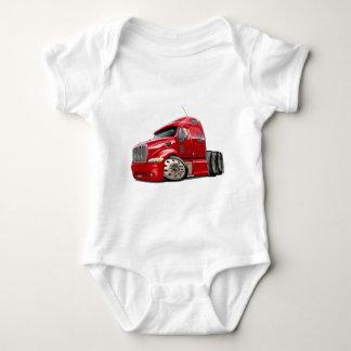 Peterbilt Red Truck Baby Bodysuit