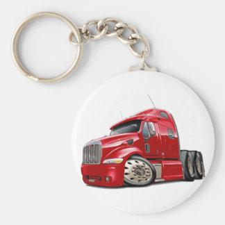Peterbilt Red Truck Keychain