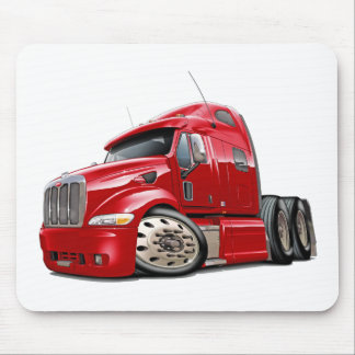 Peterbilt Red Truck Mouse Pad