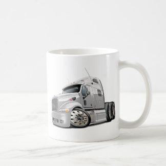 Peterbilt White Truck Coffee Mug
