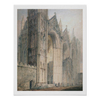Peterborough Cathedral (w/c on paper) Poster