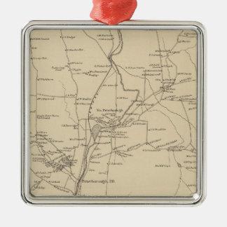 Peterborough, Hillsborough Co Metal Ornament