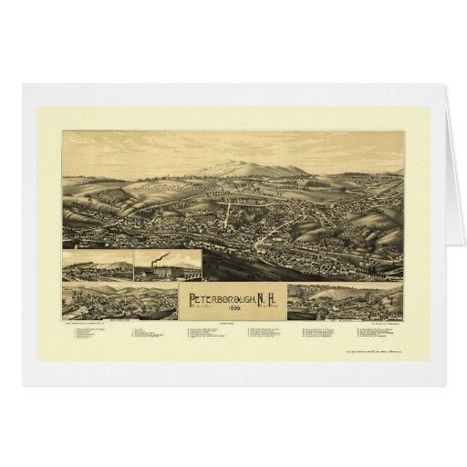 Peterborough, NH Panoramic Map - 1886 Greeting Card