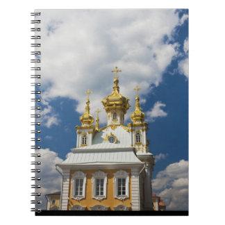 Peterhof, palacio magnífico, ala 2 de la capilla libros de apuntes