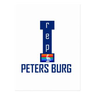 PETERS BURG Design Postcard
