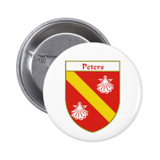 Peters Coat of Arms/Family Crest Button