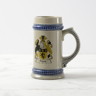 Peters Family Crest Beer Stein