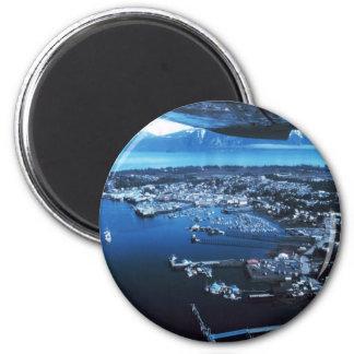 Petersburg Alaska 2 Inch Round Magnet
