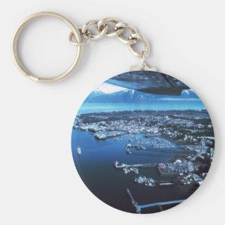 Petersburg Alaska Basic Round Button Keychain