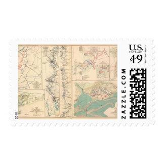 Petersburg environs Bentonville Carolinas Postage Stamp