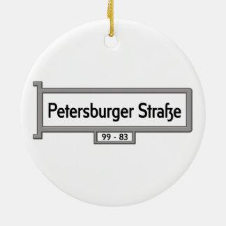 Petersburger Strasse, placa de calle de Berlín Adorno Redondo De Cerámica