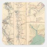 Petersburgo rodea Bentonville Carolinas Pegatina Cuadrada