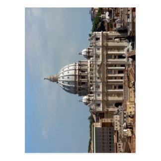 Petersdom en la ROM, gesehen el der Engelsburg de  Tarjetas Postales
