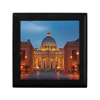 Petersdom en Roma - Italia Joyero Cuadrado Pequeño