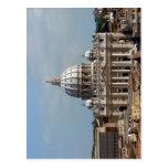 Petersdom in Rom, gesehen vom Dach der Engelsburg  Postcard