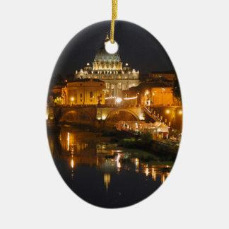 Petersdom - Vaticano Roma - Italia Adorno Navideño Ovalado De Cerámica