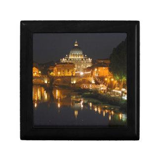 Petersdom - Vaticano Roma - Italia Joyero Cuadrado Pequeño