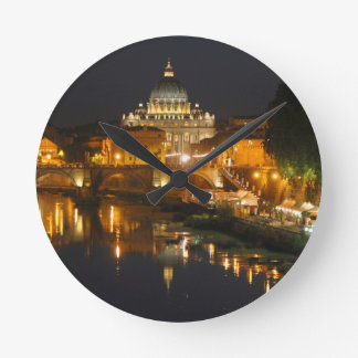 Petersdom - Vaticano Roma - Italia Reloj Redondo Mediano