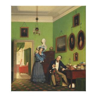 Petersen Family Balance by Wilhelm Ferdinand Bendz Stretched Canvas Prints