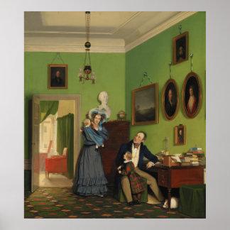 Petersen Family Balance by Wilhelm Ferdinand Bendz Poster