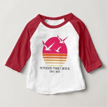 Petersen Family Beach Baby Baseball Shirt