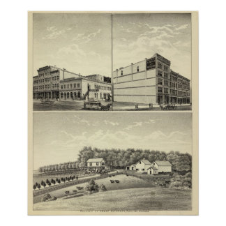 Petersen residence, Dewey, and Stone, Nebraska Poster