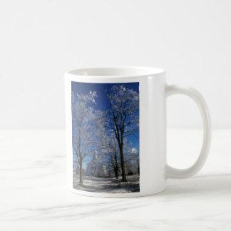 Petersham Massachusetts Town Common in Winter Coffee Mug