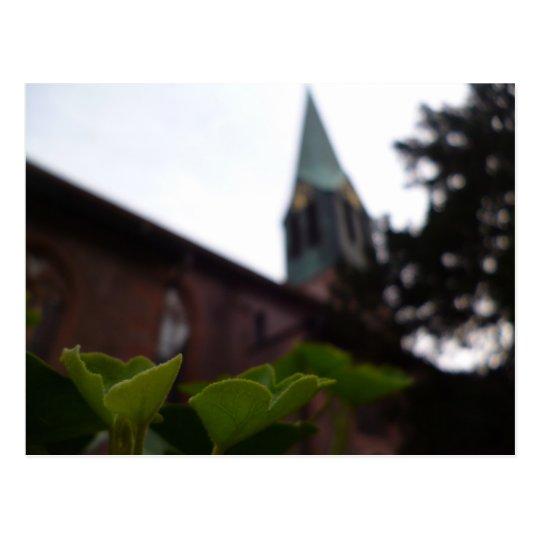 peterskirche church in heidelberg, germany postcard