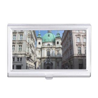 Peterskirche Wien Österreich Business Card Case