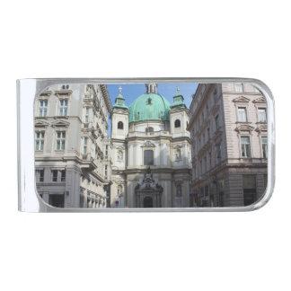 Peterskirche Wien Österreich Clip Para Billetes Plateado