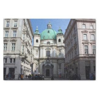 Peterskirche Wien Österreich Papel De Seda Pequeño