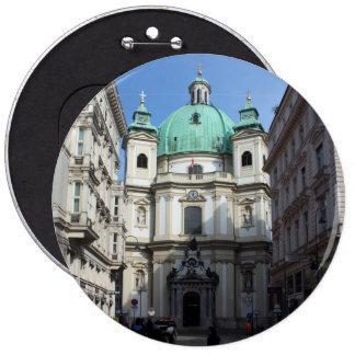 Peterskirche Wien Österreich Pin Redondo De 6 Pulgadas