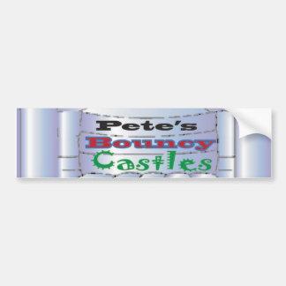 Petes Castles Bumper Sticker