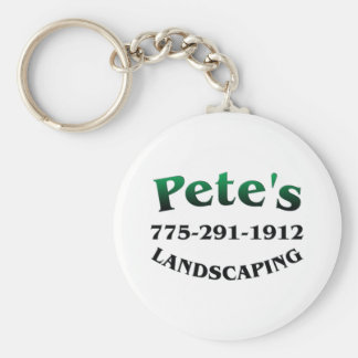 Petes Landscaping Basic Round Button Keychain