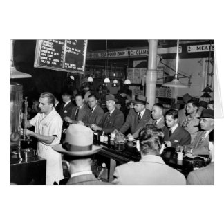 Pete's Lunch Counter, 1950 Card