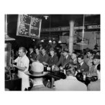 Pete's Lunch Counter, 1950 Poster