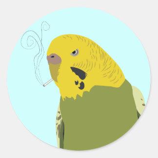 Petey the Parakeet Classic Round Sticker