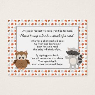 Petición animal del libro del arbolado/parte tarjeta de negocios