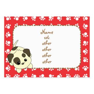 Petición de las patas del perrito plantillas de tarjetas de visita