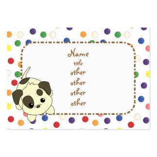 Petición de las patas del perrito tarjetas de visita