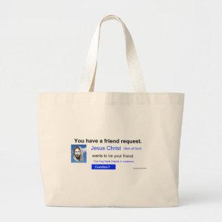 Petición del amigo bolsa tela grande