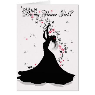 Petición del boda del florista con F de cogida Tarjeta De Felicitación