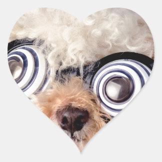 Petición del caniche calcomania corazon personalizadas