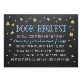 Petición del libro de la estrella del centelleo, tarjetas de visita grandes