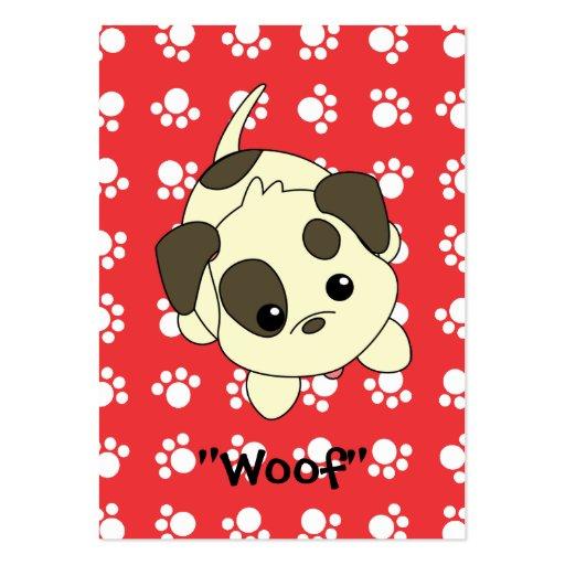 Petición del perrito tarjetas de visita