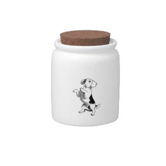 Petición del tarro del caramelo del beagle jarras para caramelos
