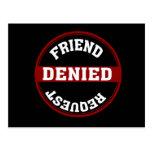 Petición divertida del amigo negada postal